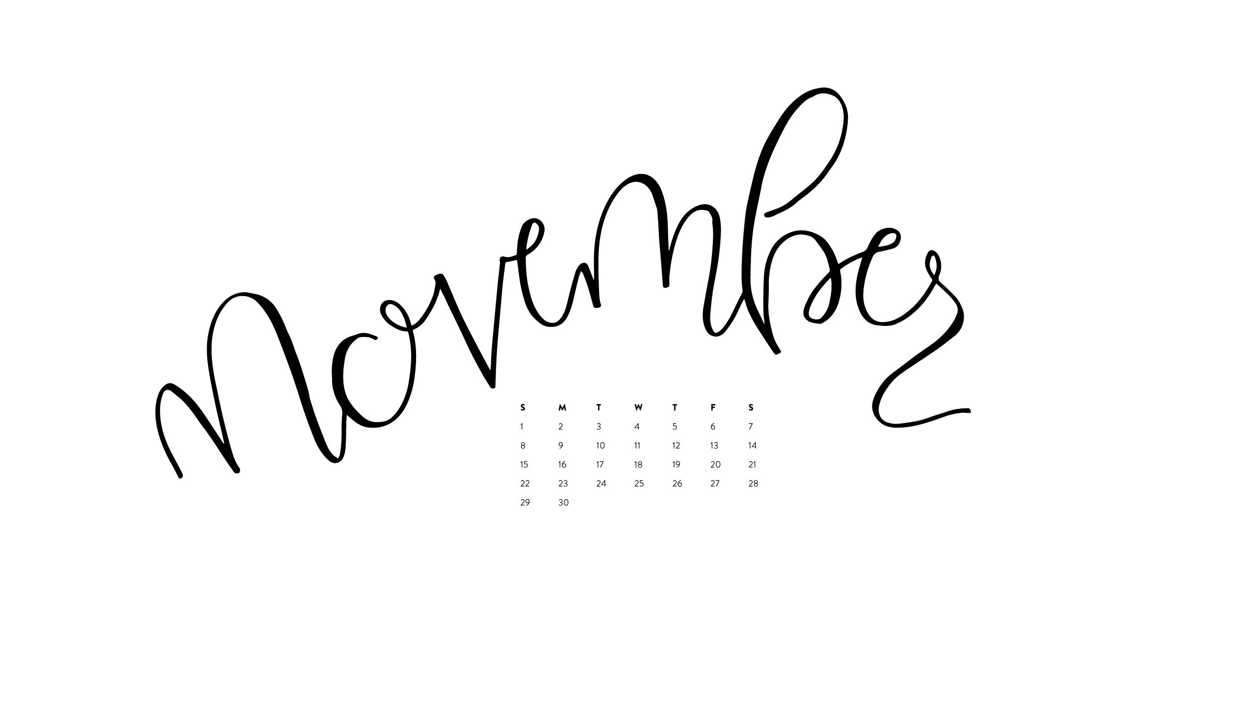 Calendar Happy November Verse