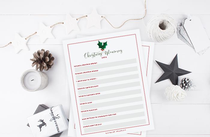 Christmas Memory Lister & Prompts   Free Printable   Ashlee Proffitt