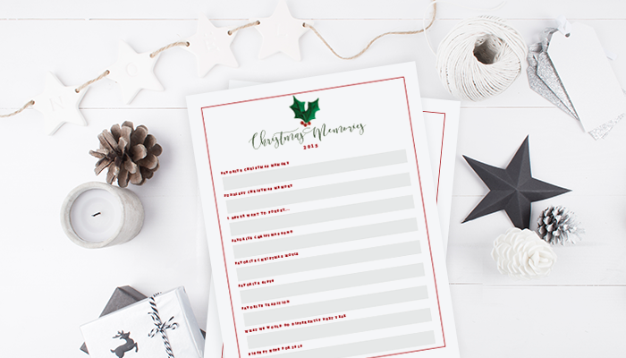 Christmas Memory Lister & Prompts | Free Printable | Ashlee Proffitt