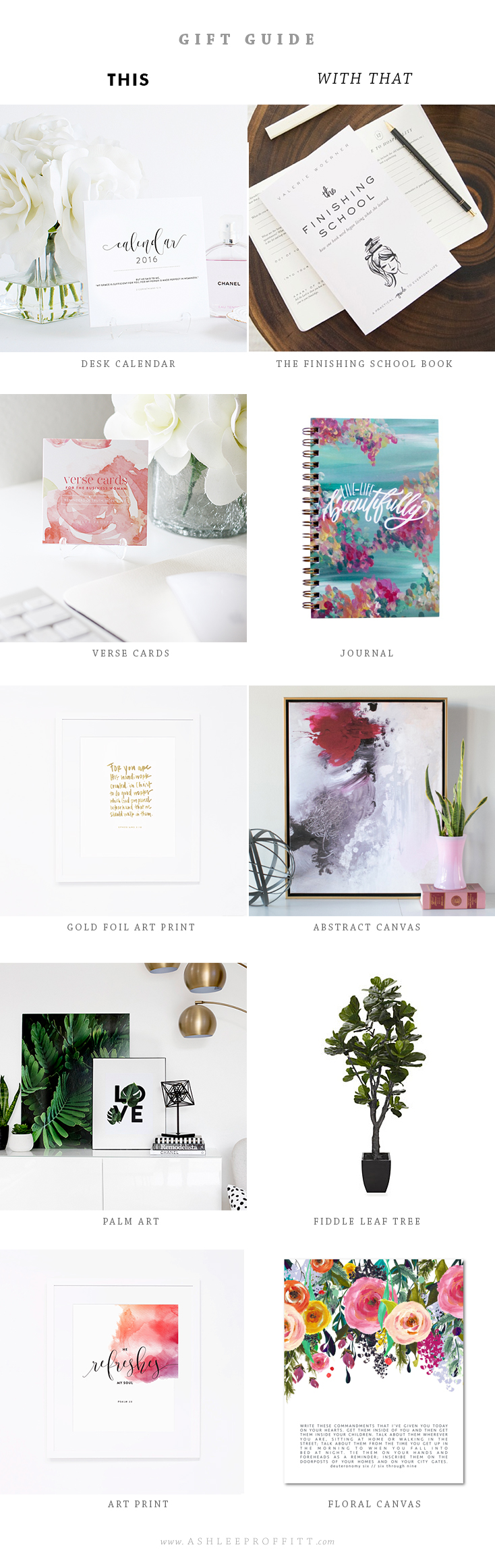 Gift Guide: This With That   Featuring Ashlee Proffitt Shop, Valerie Woerner, Life Lived Beautifully, Lindsay Letters, Naptime Diaries, ZGallerie