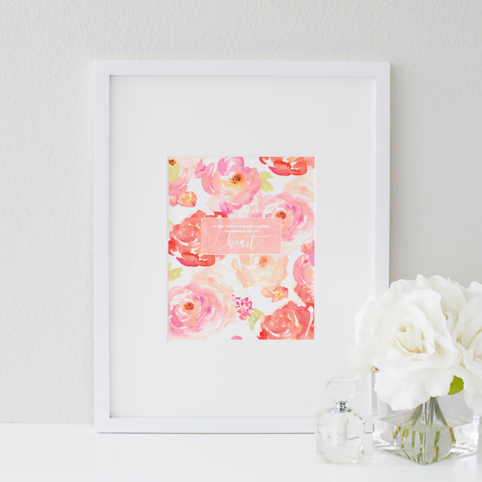 """If you think my hands are full, you should see my heart."" 
