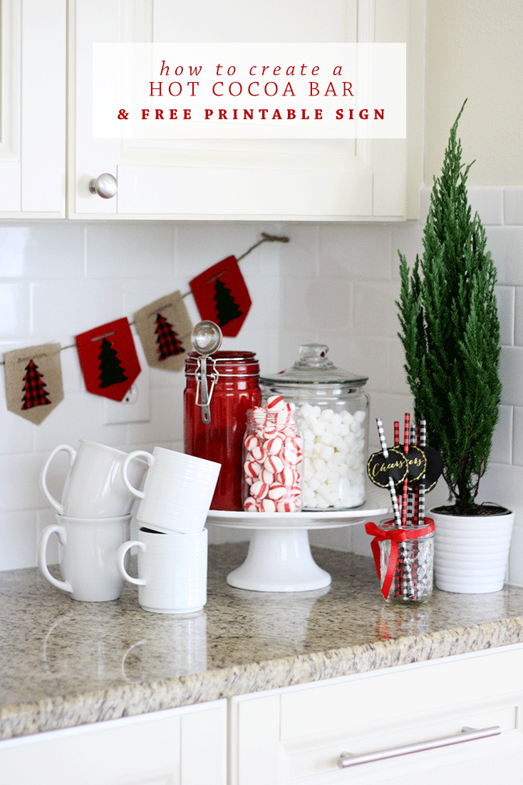 How To Create A Hot Cocoa Bar | Ashlee Proffitt