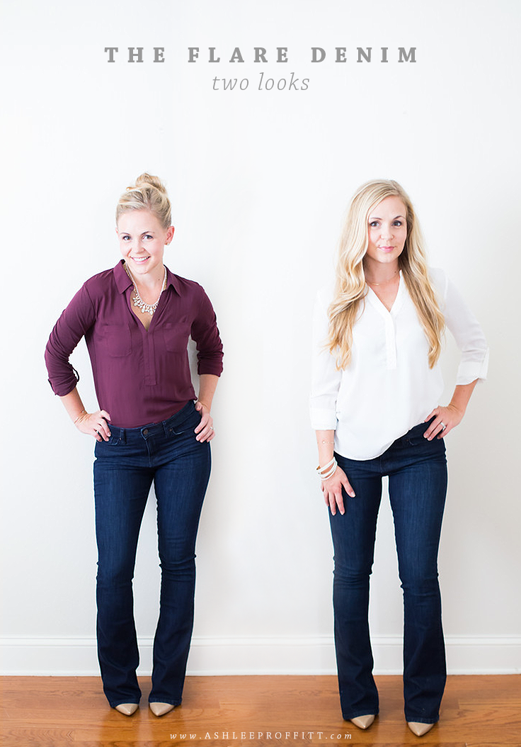 How To Wear Flare Denim: Two Looks & Sources | Megan Michele & Ashlee Proffitt