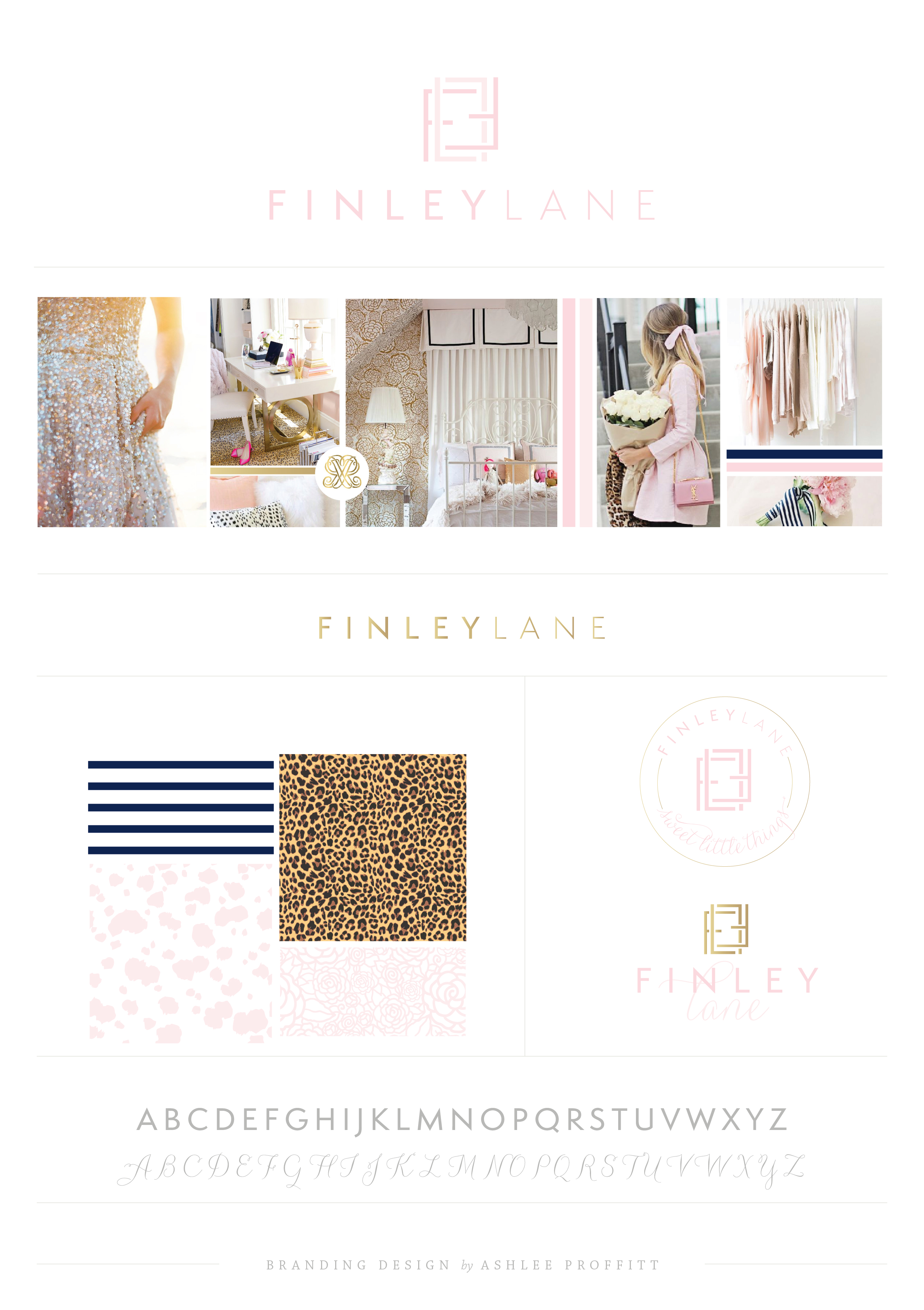 Brand Design | Finley Lane | Luxury Custom Branding by Ashlee Proffitt