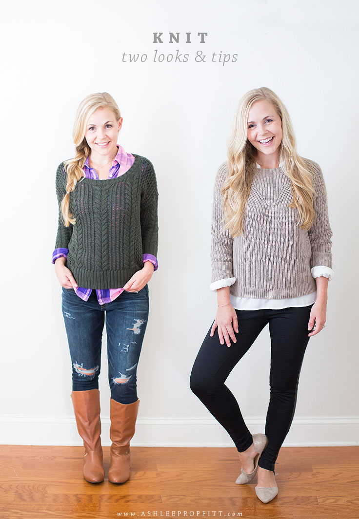 How To Wear Knit: Two Looks, Tips For Styling & Sources   Megan Michele & Ashlee Proffitt