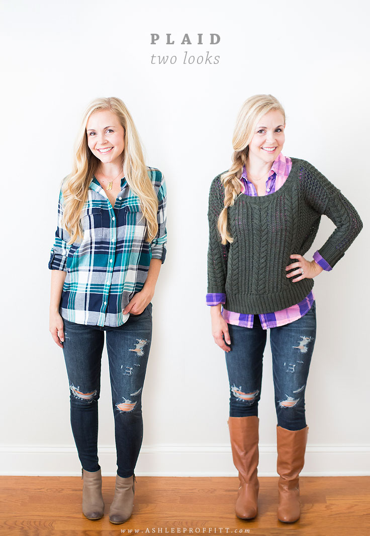 How To Wear Plaid: Two Looks & Sources | Megan Michele & Ashlee Proffitt