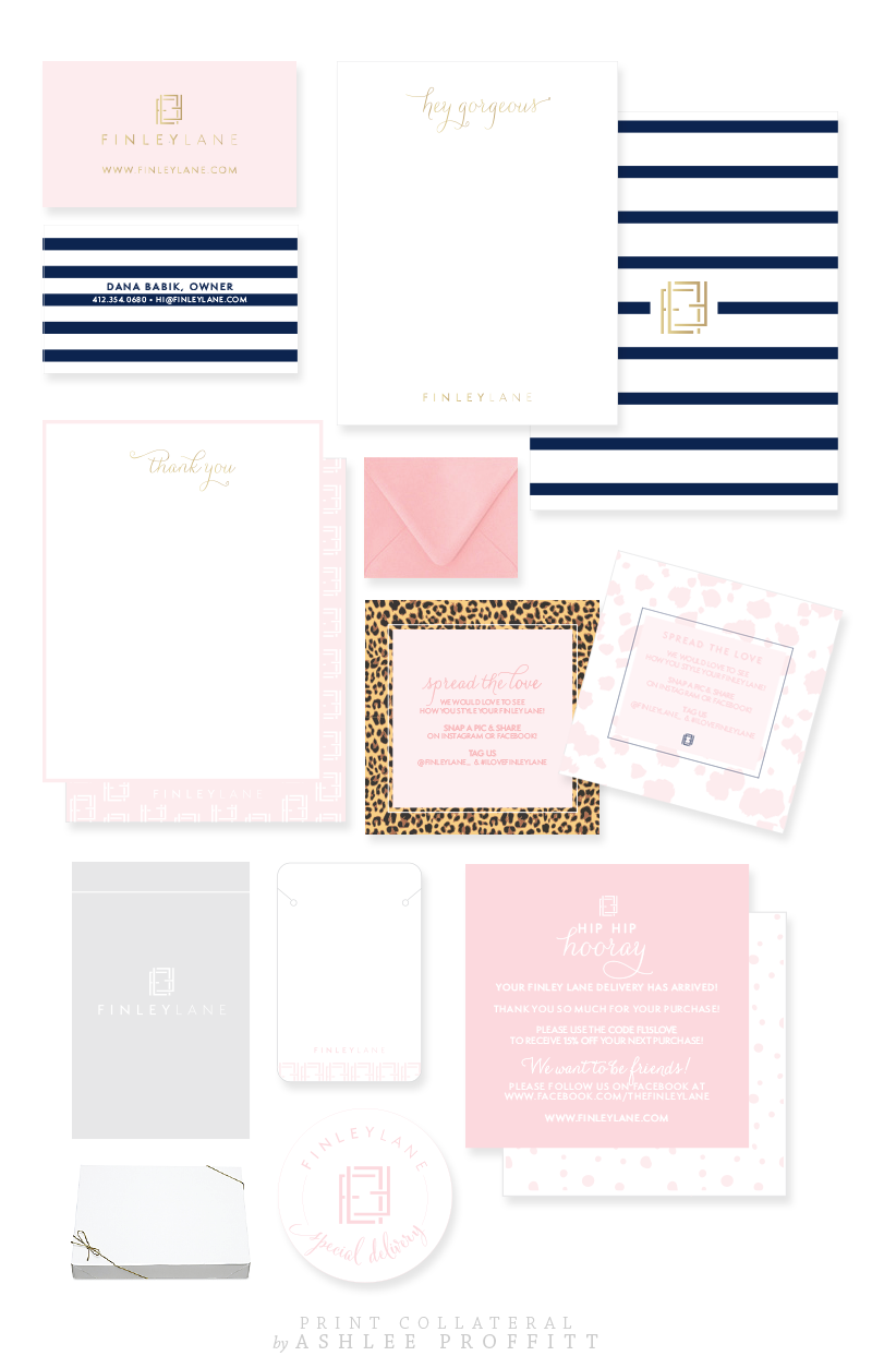 Finley Lane | Brand & Collateral Elements by Ashlee Proffitt