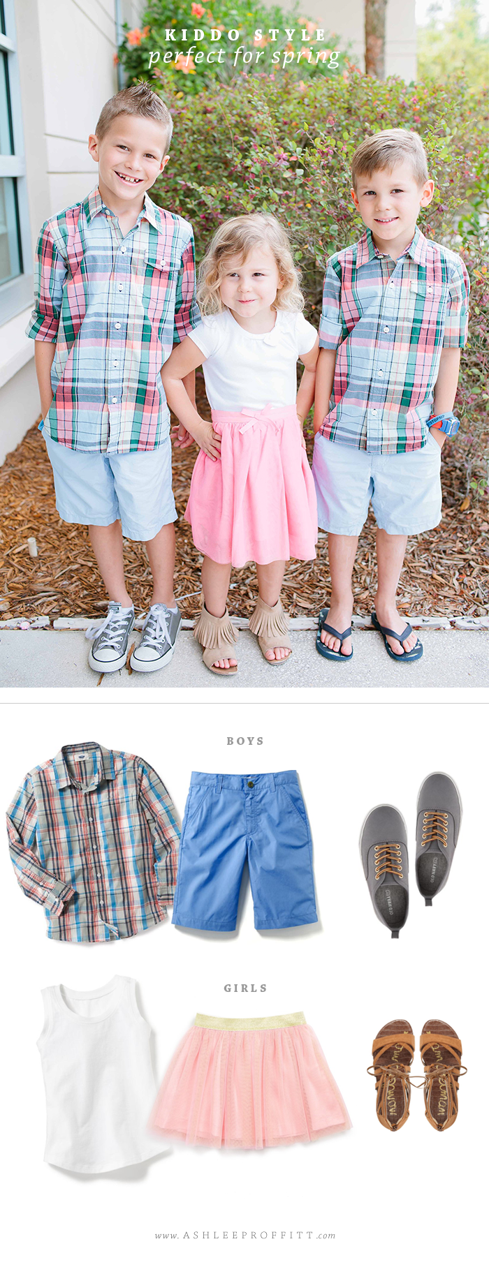 Spring Style for Children | Family Photos Outfit Inspiration | by Ashlee Proffitt