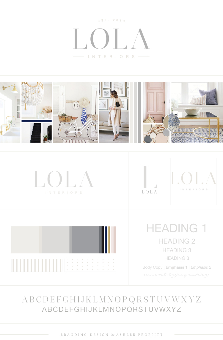 Lola Interiors Brand Reveal | Branding by Ashlee Proffitt