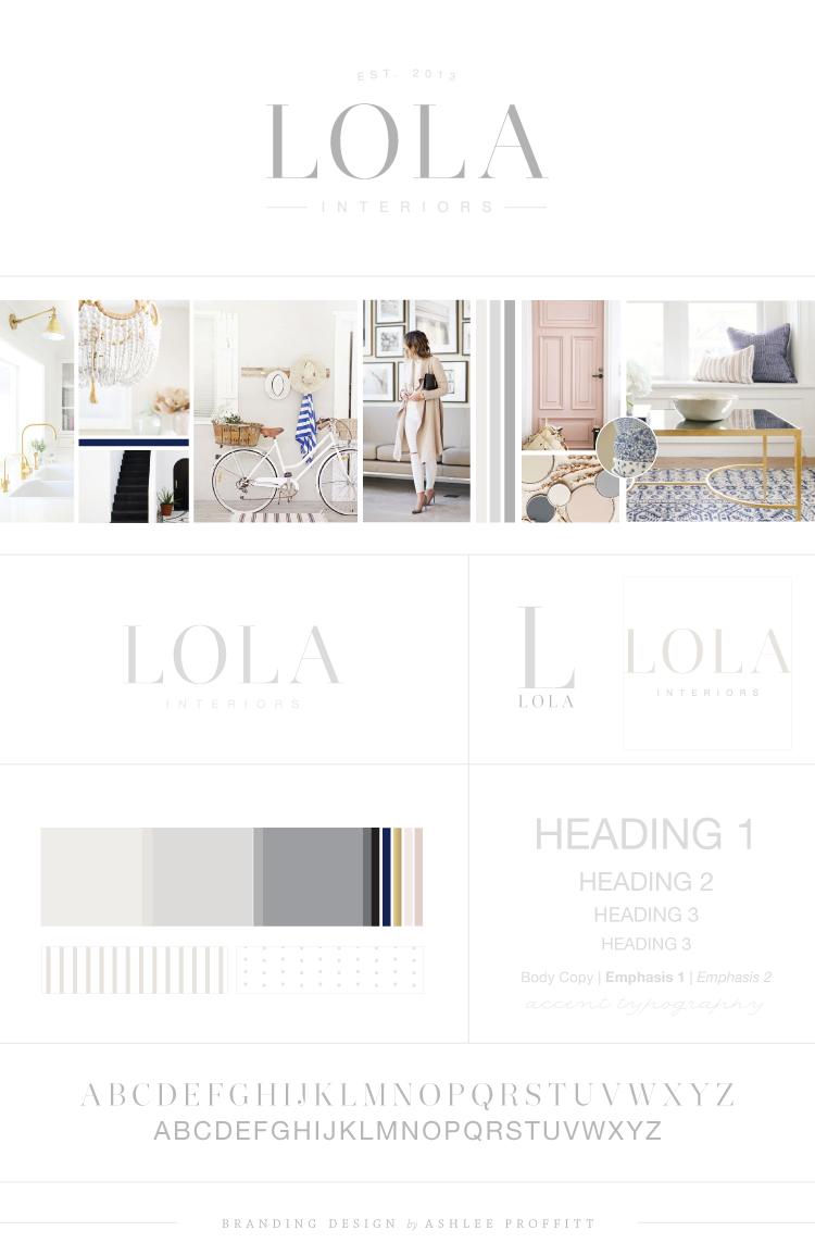 Lola Interiors Brand Reveal | Branding by Ashlee Proffitt