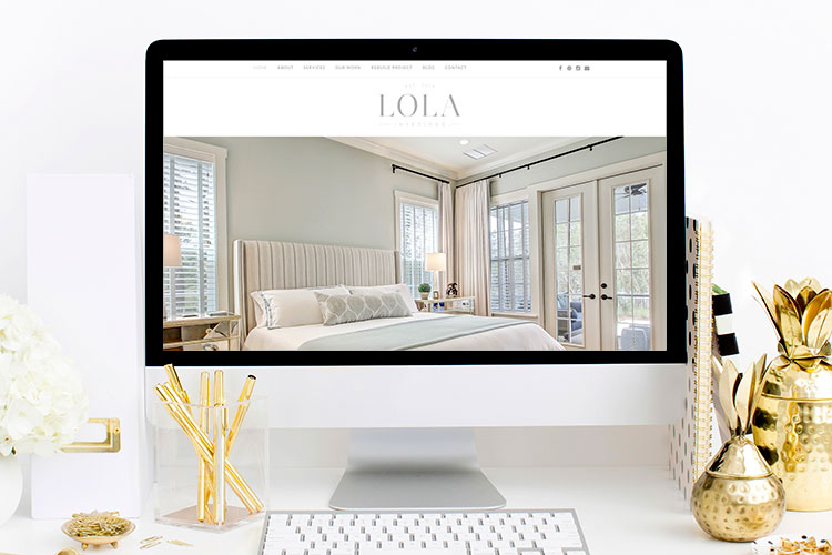 Lola Interiors Website Reveal | Branding & Website by Ashlee Proffitt