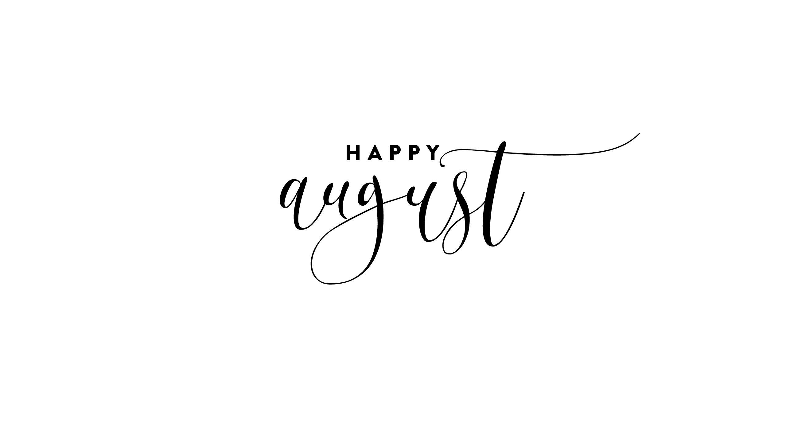 Calendar · Happy August · Verse
