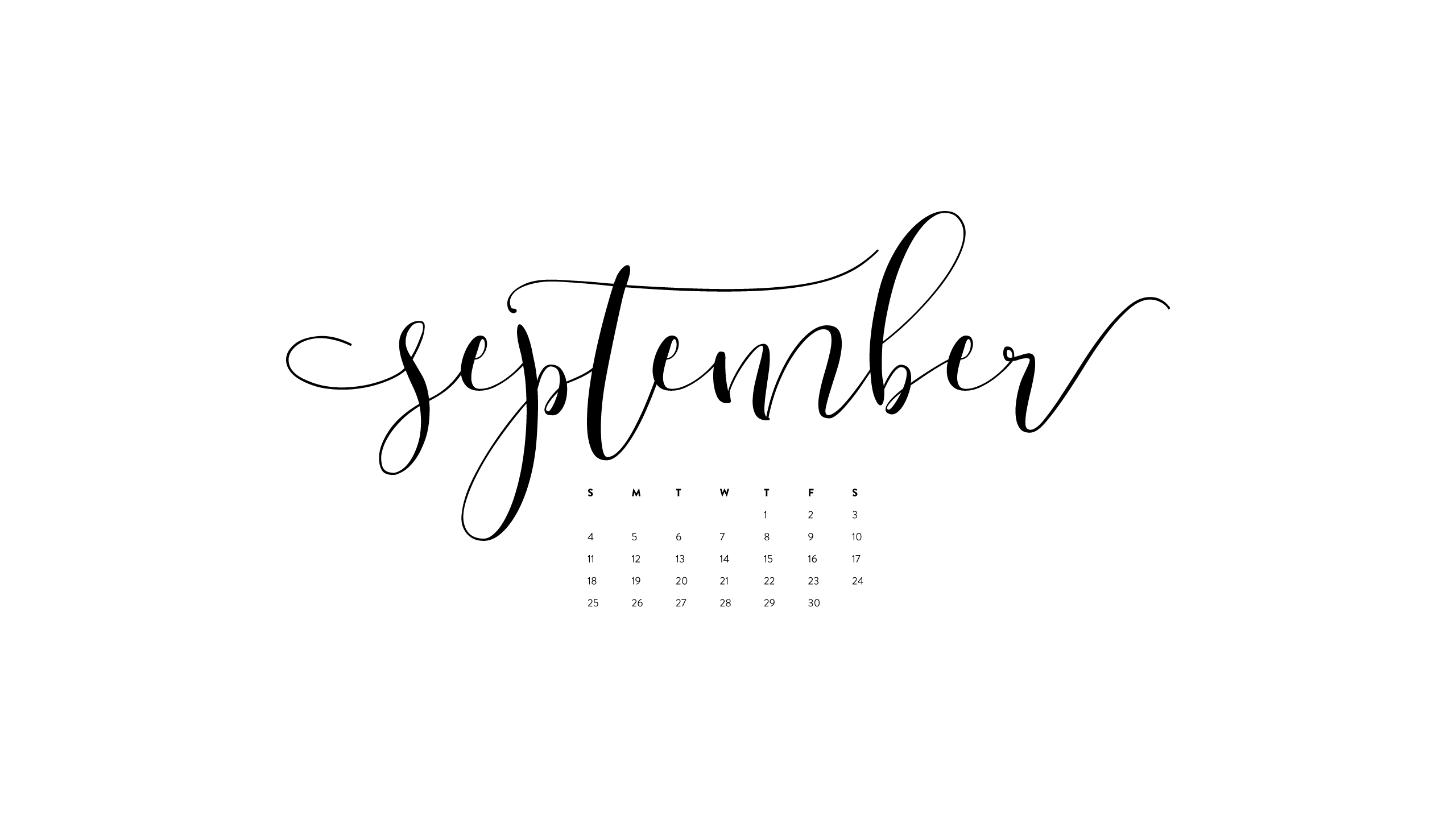 September 2017 Free Calendars and Wallpaper - Red Stamp