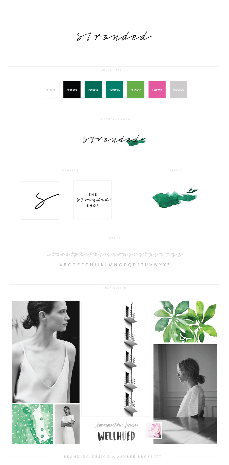 Brand Elements | The Stranded Shop | branding by Ashlee Proffitt