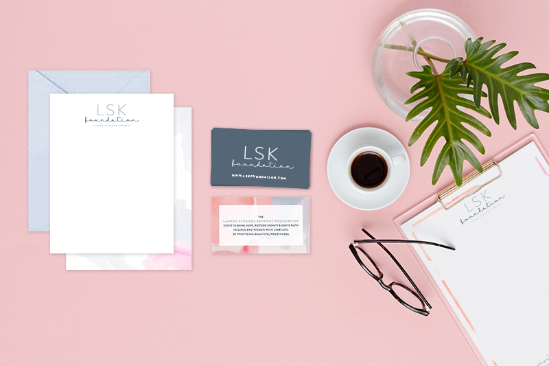 Lauren Scruggs Kennedy Foundation Collateral Designs | Branding by Ashlee Proffitt