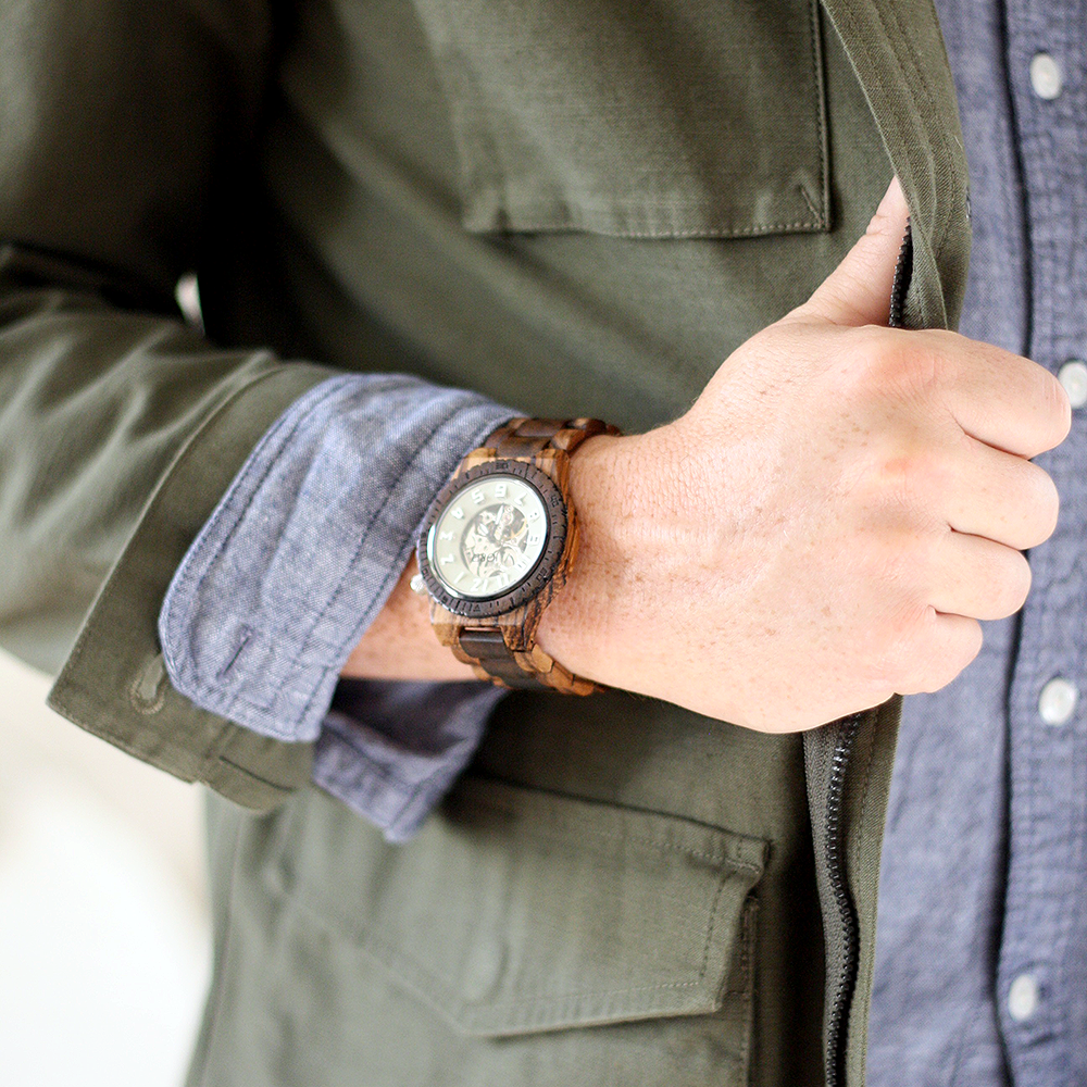 Men's Winter Style | Layer & Accessories | by Ashlee Proffitt | Mens Watch, Unique Watch, Wood watch