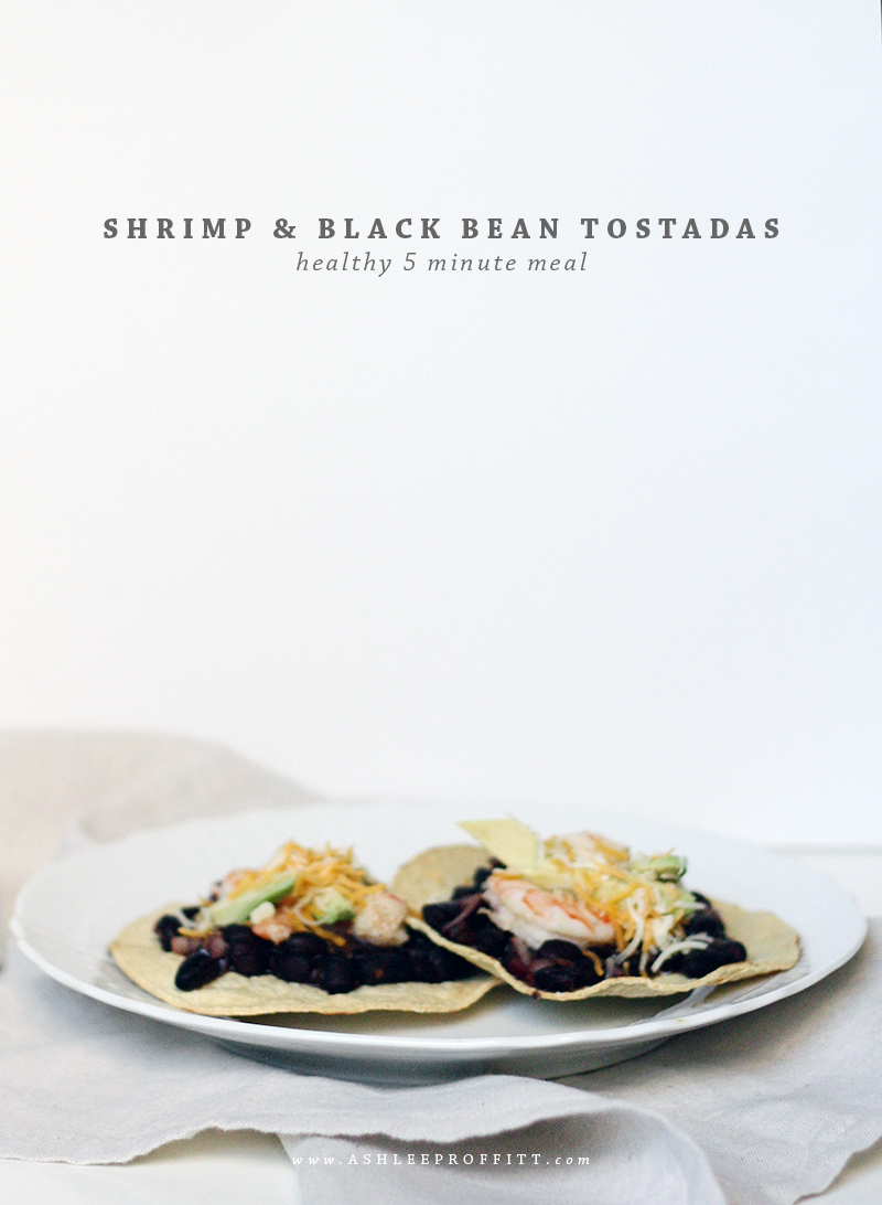 Black Bean Shrimp Tostadas | | meal planning service: healthy and simple | eat real with me | photo by Ashlee Proffitt