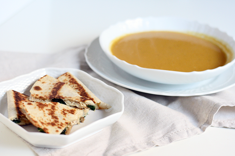 Butternut Squash Soup Chicken Quesadillas | meal planning service: healthy and simple | eat real with me | photo by Ashlee Proffitt