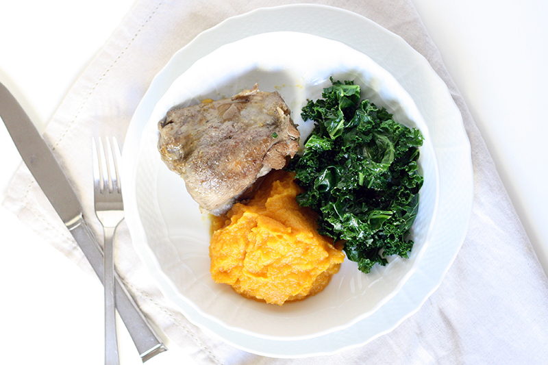 Chicken + Squash Mash Kale | meal planning service: healthy and simple | eat real with me | photo by Ashlee Proffitt