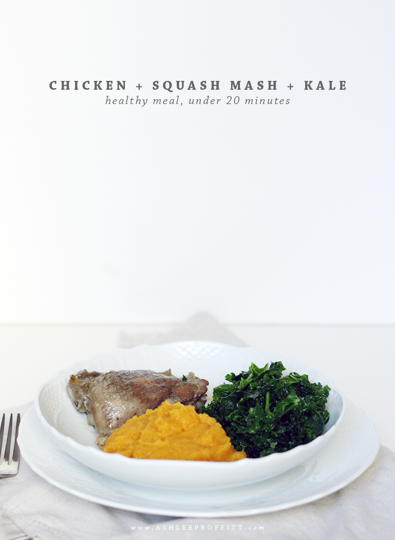 Chicken Squash Mash Kale | meal planning service: healthy and simple | eat real with me | photo by Ashlee Proffitt