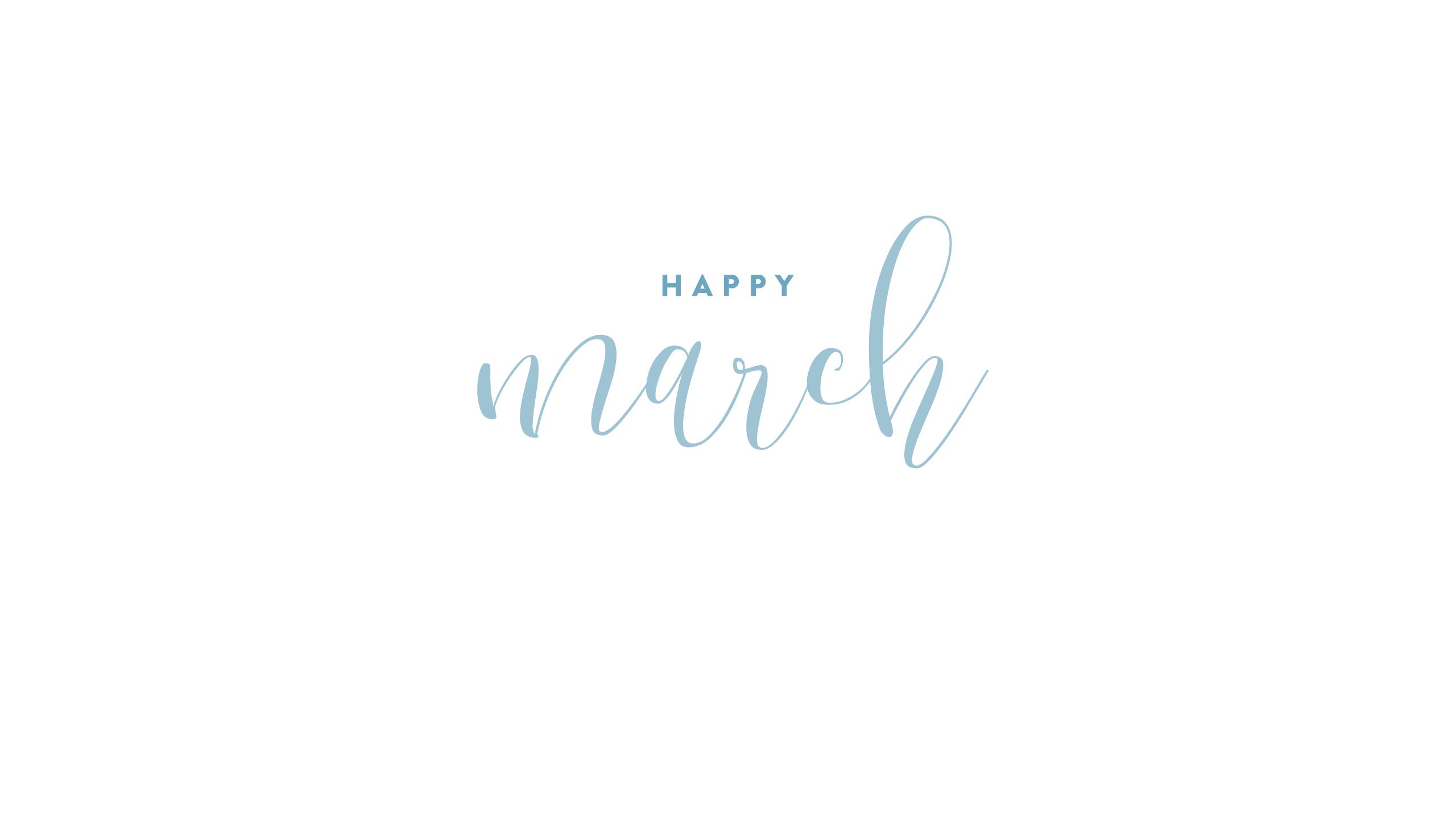 Calendar · Happy March · Verse