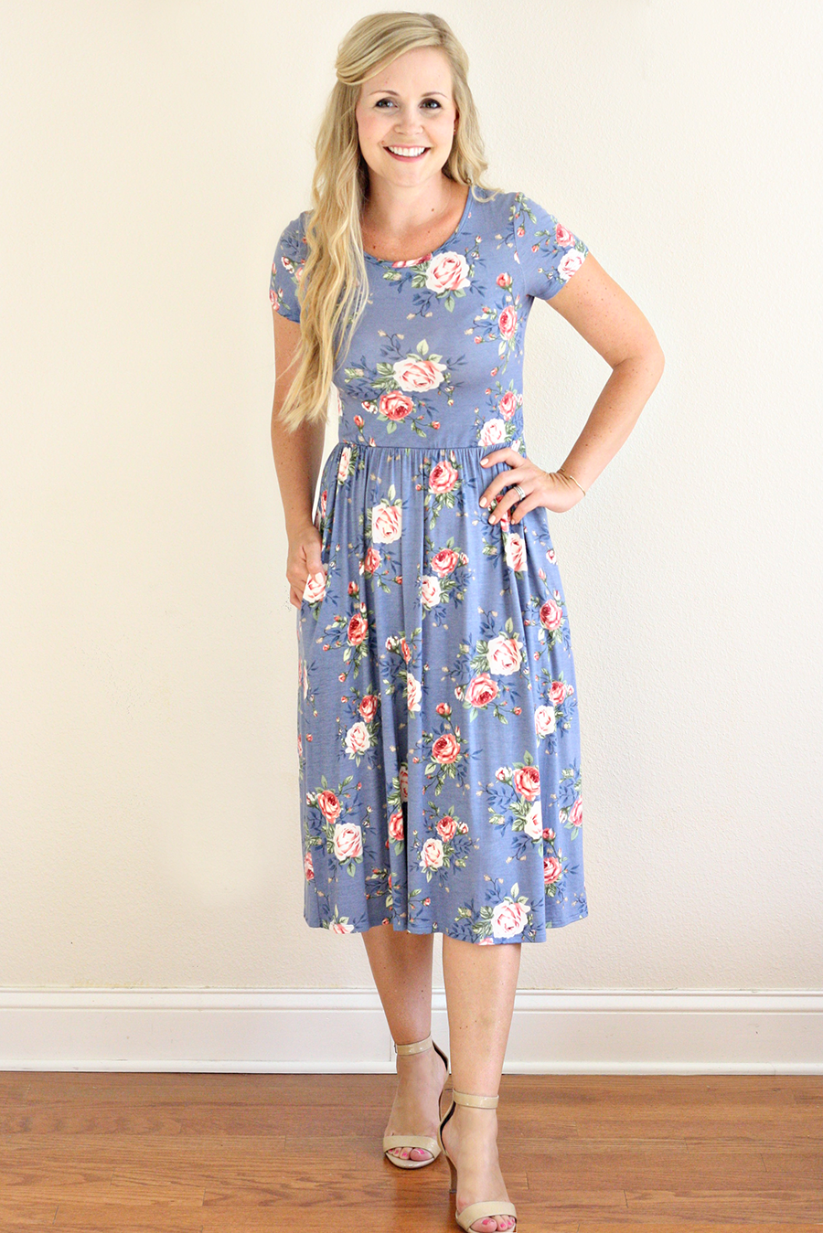 Modest & Femine Floral Dress by Cleo Madison | Ashlee Proffitt