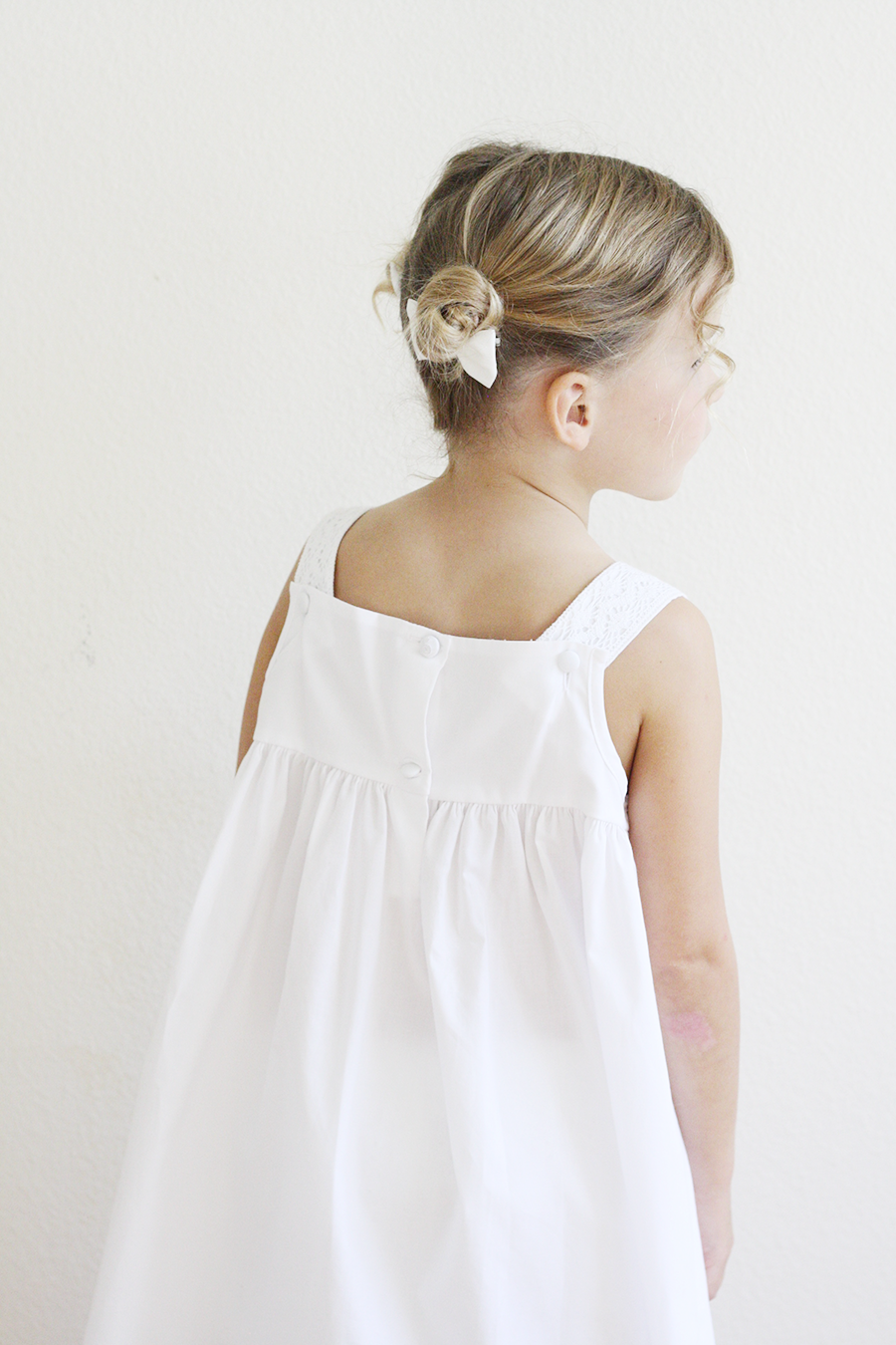 Strasburg Children | Girls White Lace Dress | Flower Girl | Ashlee Proffitt