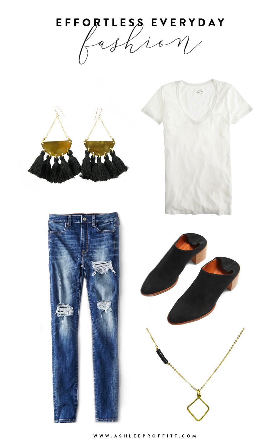 Effortless Everyday Fashion | Brass Tassel Earrings by Sseko | Ashlee Proffitt
