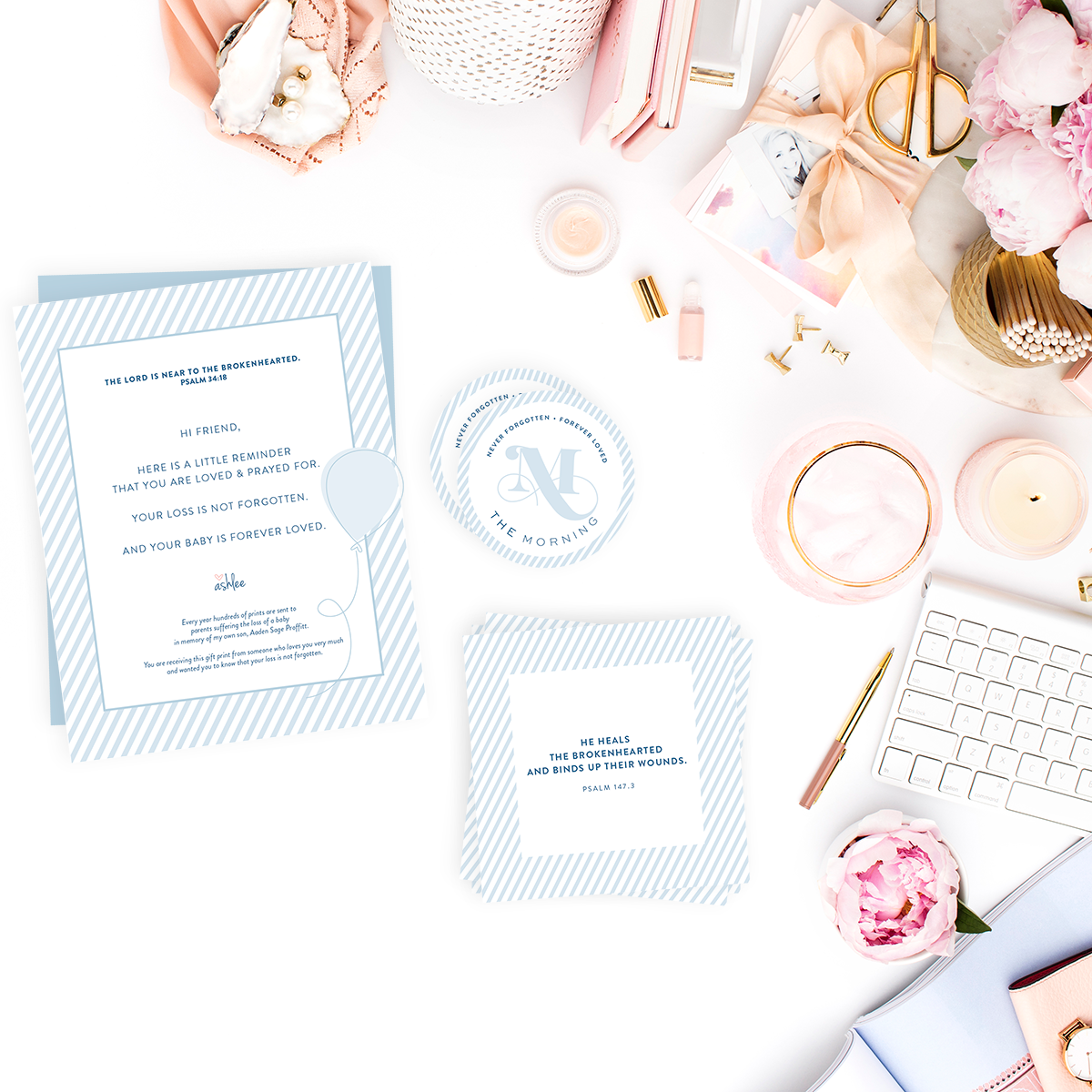 Collateral Designs | The Morning: A Community for Women Grieving the Loss of a Baby | Branding by Laura Kashner | The Morning by Ashlee Proffitt