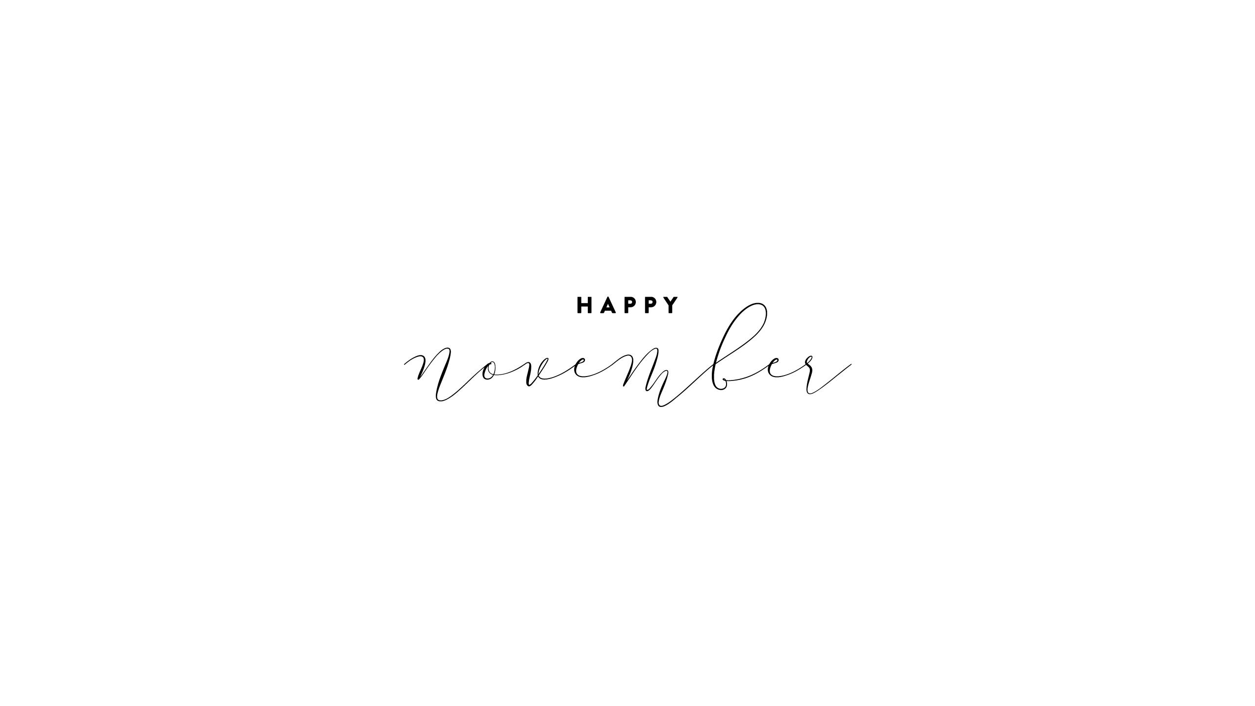 Calendar · Happy November · Verse