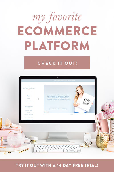 The best ecommerce platform: Shopify | Try it out with a 14 day free trial. | Ashlee Proffitt